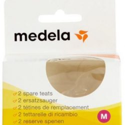 Medela Spare Teats Medium Flow (Pack of 2)